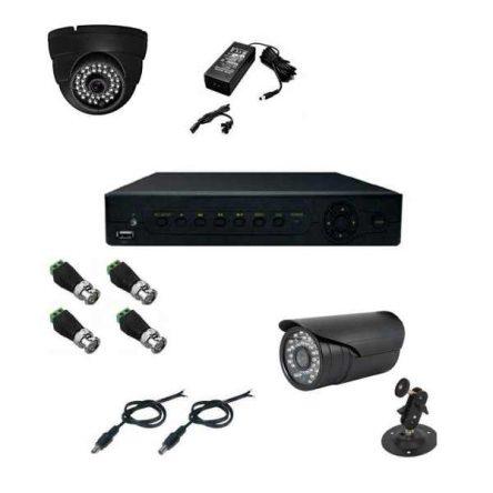 پکیج سیستم امنیتی حفاظتی/نظارتی دوربین مداربسته مدل SX4001A